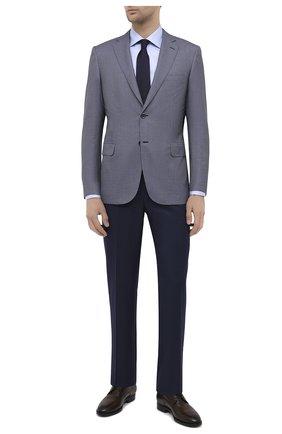 Мужская хлопковая сорочка CANALI голубого цвета, арт. XX18/GX02030   Фото 2 (Материал внешний: Хлопок; Рукава: Длинные; Длина (для топов): Стандартные; Случай: Формальный; Стили: Классический)