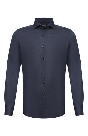 Мужская хлопковая сорочка CANALI темно-синего цвета, арт. NXC8/GR01910 | Фото 1