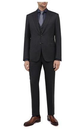 Мужская хлопковая сорочка CANALI темно-синего цвета, арт. NXC8/GR01910 | Фото 2
