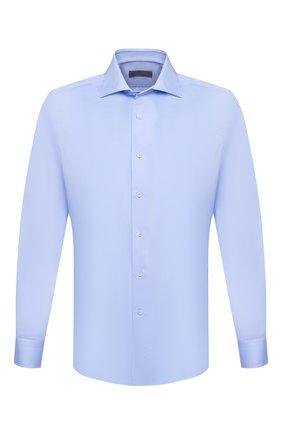 Мужская хлопковая сорочка CANALI голубого цвета, арт. NX58/GR01925   Фото 1