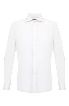 Мужская хлопковая сорочка CANALI белого цвета, арт. NX58/GR01598/P | Фото 1