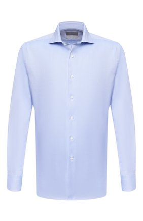 Мужская хлопковая сорочка CANALI голубого цвета, арт. N7C3/GR01926   Фото 1