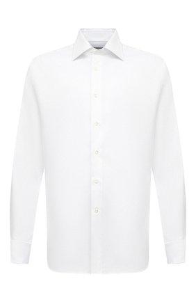 Мужская хлопковая сорочка CANALI белого цвета, арт. N705/GR01926/P | Фото 1