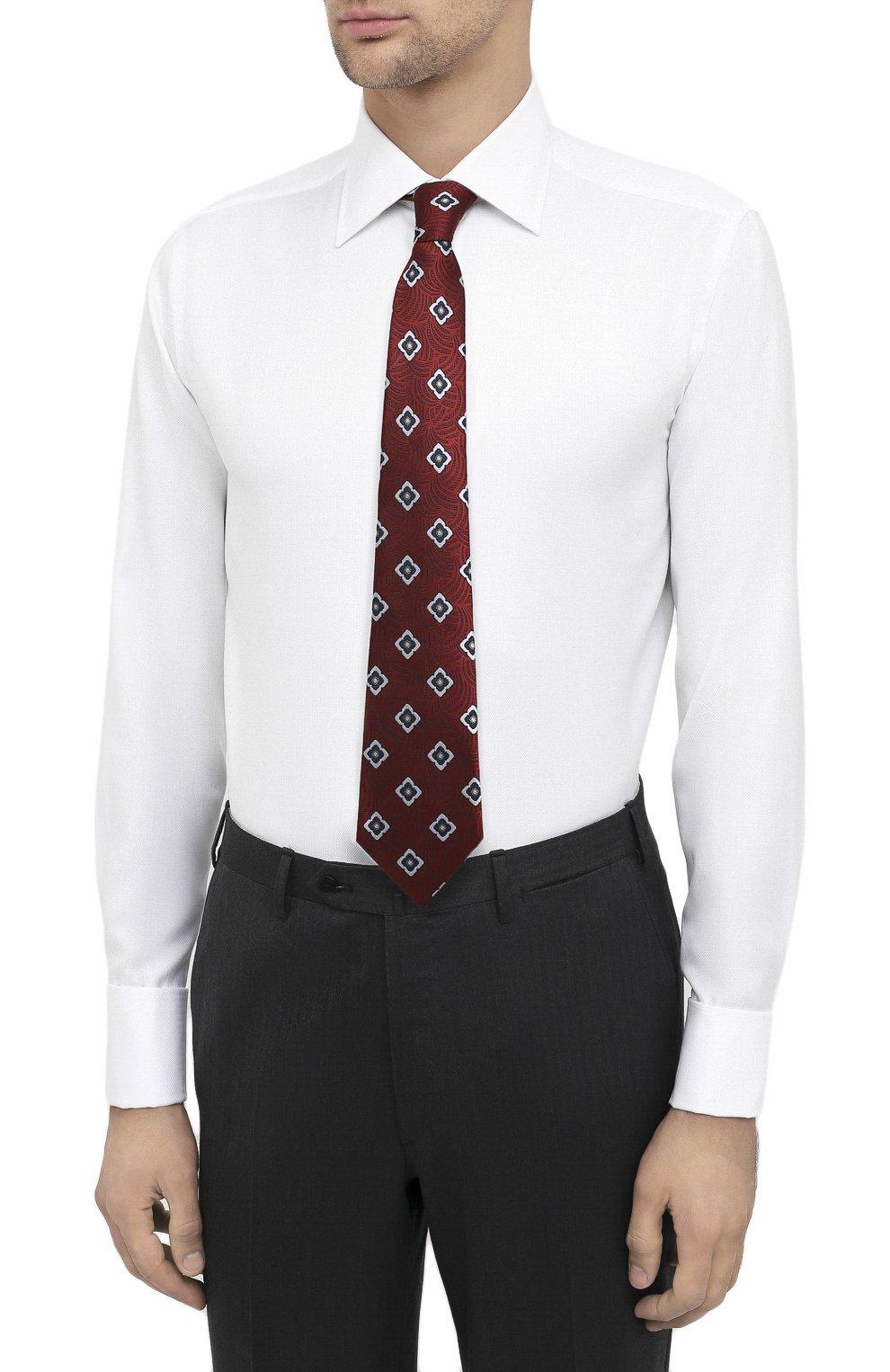Мужская хлопковая сорочка CANALI белого цвета, арт. N705/GR01926/P | Фото 4