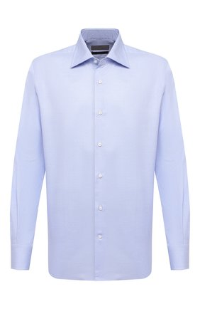 Мужская хлопковая сорочка CANALI голубого цвета, арт. 7705/GX02031 | Фото 1