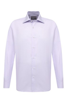 Мужская хлопковая сорочка CANALI сиреневого цвета, арт. 7705/GX02029 | Фото 1