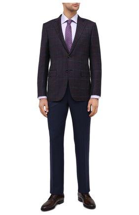 Мужская хлопковая сорочка CANALI сиреневого цвета, арт. 7705/GX02029 | Фото 2