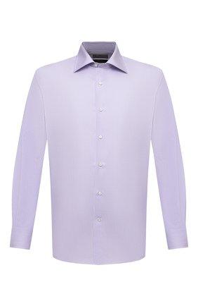 Мужская хлопковая сорочка CANALI сиреневого цвета, арт. 7705/GX02028 | Фото 1