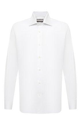 Мужская хлопковая сорочка CANALI белого цвета, арт. 7705/GX02026 | Фото 1