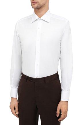 Мужская хлопковая сорочка CANALI белого цвета, арт. 7705/GX02026 | Фото 3