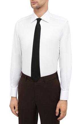 Мужская хлопковая сорочка CANALI белого цвета, арт. 7705/GX02026 | Фото 4