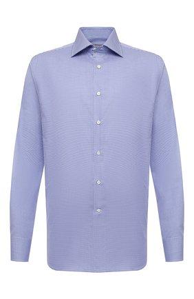 Мужская хлопковая сорочка CANALI синего цвета, арт. 758/GD01674   Фото 1