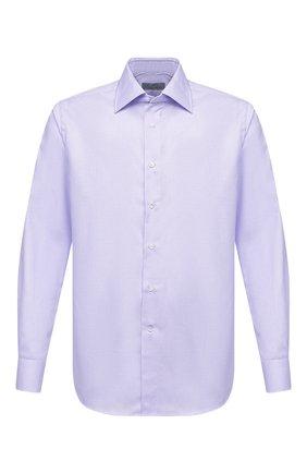 Мужская хлопковая сорочка CANALI фиолетового цвета, арт. 705/GA00327 | Фото 1
