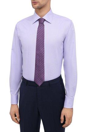 Мужская хлопковая сорочка CANALI фиолетового цвета, арт. 705/GA00327 | Фото 4