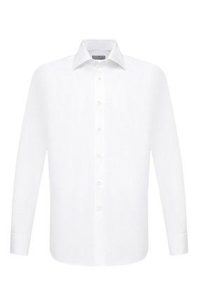Мужская хлопковая сорочка CANALI белого цвета, арт. 705/GA00094 | Фото 1