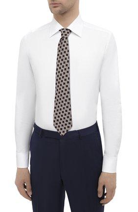 Мужская хлопковая сорочка CANALI белого цвета, арт. 705/GA00094   Фото 4