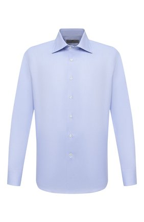 Мужская хлопковая сорочка CANALI голубого цвета, арт. 705/GA00094 | Фото 1