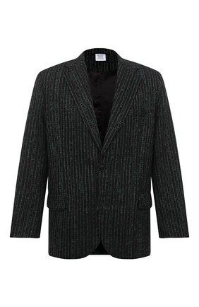 Мужской шерстяной пиджак VETEMENTS зеленого цвета, арт. MAH21JA078 1211 | Фото 1