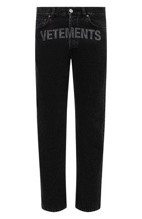 Мужские джинсы VETEMENTS черного цвета, арт. MAH21PA136 2802 | Фото 1