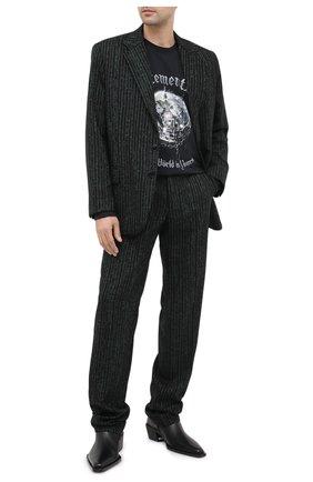 Мужские шерстяные брюки VETEMENTS зеленого цвета, арт. MAH21PA930 1204 | Фото 2