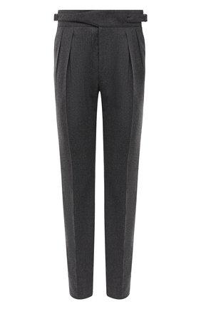 Мужской шерстяные брюки RALPH LAUREN серого цвета, арт. 798819712 | Фото 1