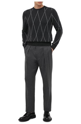 Мужской шерстяные брюки RALPH LAUREN серого цвета, арт. 798819712 | Фото 2