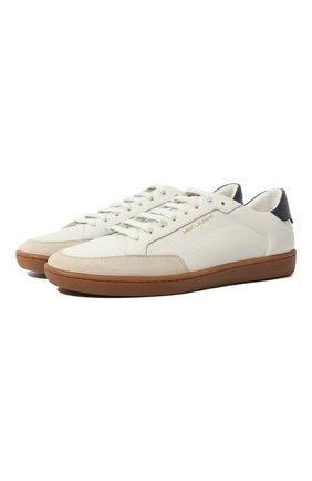 Мужские кожаные кеды court classic sl/10 SAINT LAURENT белого цвета, арт. 603223/1JZG0 | Фото 1