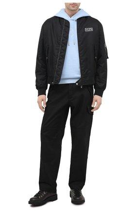 Мужской хлопковые брюки-карго LOEWE черного цвета, арт. H526331W01 | Фото 2