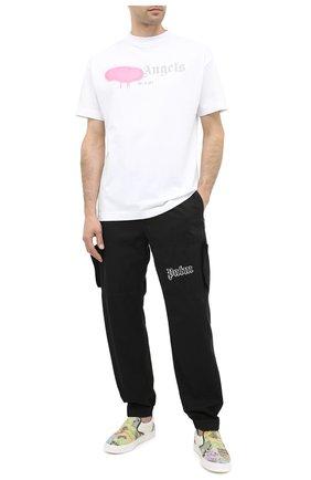 Мужская хлопковая футболка PALM ANGELS белого цвета, арт. PMAA001F20JER0130130 | Фото 2