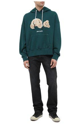 Мужской хлопковое худи PALM ANGELS темно-зеленого цвета, арт. PMBB058E20FLE0035760 | Фото 2