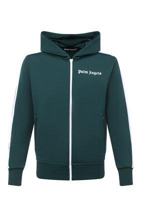Мужской толстовка PALM ANGELS темно-зеленого цвета, арт. PMBD025E20FAB0035501 | Фото 1