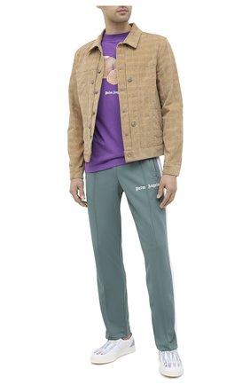 Мужской брюки PALM ANGELS светло-зеленого цвета, арт. PMCA007E20FAB0015901 | Фото 2