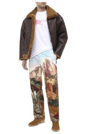 Мужской хлопковые брюки PALM ANGELS разноцветного цвета, арт. PMCA081E20FAB0014084 | Фото 2
