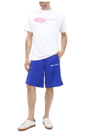 Мужские шорты PALM ANGELS синего цвета, арт. PMCB011E20FAB0054501 | Фото 2