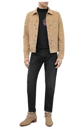 Мужская хлопковая куртка PALM ANGELS светло-коричневого цвета, арт. PMEA138E20DEN0016225 | Фото 2