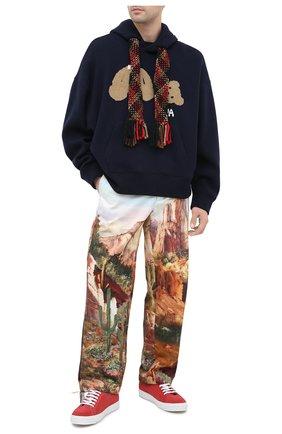 Мужской шерстяное худи PALM ANGELS темно-синего цвета, арт. PMHA032E20KNI0014660 | Фото 2