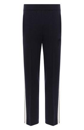 Мужской брюки из кашемира и шерсти PALM ANGELS темно-синего цвета, арт. PMHG004E20KNI0014610 | Фото 1