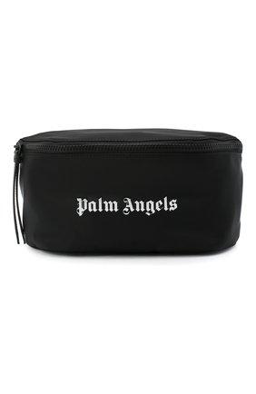 Мужская текстильная поясная сумка PALM ANGELS черного цвета, арт. PMNA030F20FAB0011001 | Фото 1