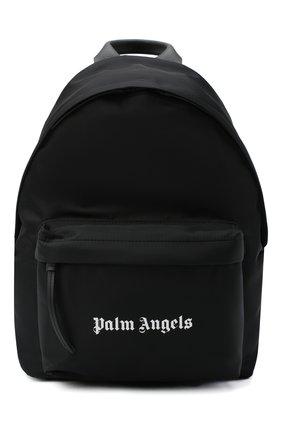 Мужской текстильный рюкзак PALM ANGELS черного цвета, арт. PMNB008F20FAB0011001 | Фото 1