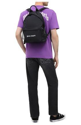 Мужской текстильный рюкзак PALM ANGELS черного цвета, арт. PMNB008F20FAB0011001 | Фото 2