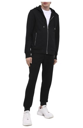 Мужской хлопковые джоггеры ALEXANDER MCQUEEN черного цвета, арт. 625380/QPX43 | Фото 2