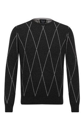 Мужской кашемировый джемпер GIORGIO ARMANI серого цвета, арт. 6HSM34/SM21Z | Фото 1