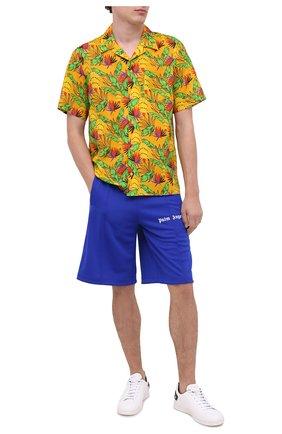Мужская рубашка из хлопка и льна VILEBREQUIN желтого цвета, арт. HARU0U14/118 | Фото 2
