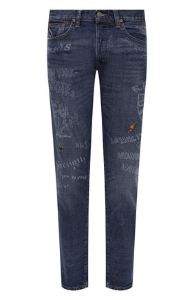 Мужские джинсы POLO RALPH LAUREN синего цвета, арт. 710810587 | Фото 1