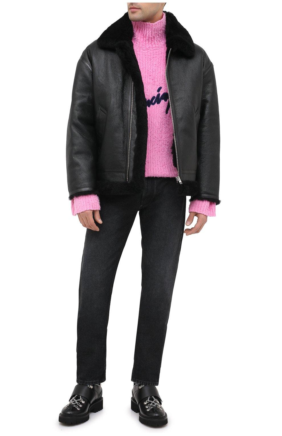 Мужская дубленка VETEMENTS черного цвета, арт. UAH21JA017 2403/M   Фото 3