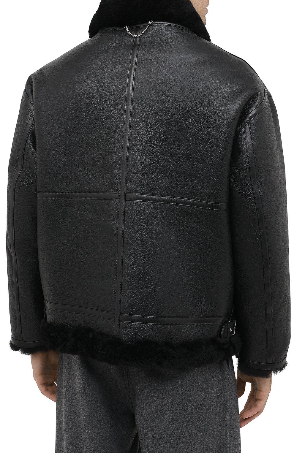 Мужская дубленка VETEMENTS черного цвета, арт. UAH21JA017 2403/M   Фото 5