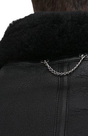 Мужская дубленка VETEMENTS черного цвета, арт. UAH21JA017 2403/M   Фото 6