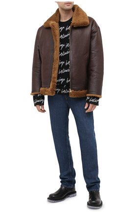 Мужская дубленка VETEMENTS коричневого цвета, арт. UAH21JA033 2403/M | Фото 2