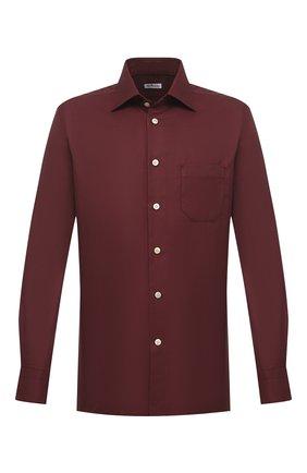 Мужская хлопковая рубашка KITON бордового цвета, арт. UMCNERH0740904 | Фото 1