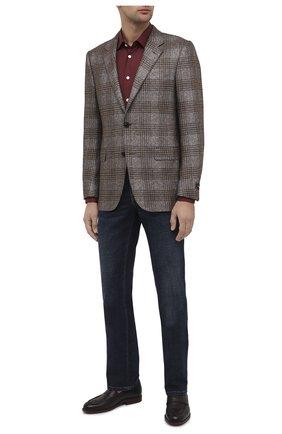 Мужская хлопковая рубашка KITON бордового цвета, арт. UMCNERH0740904 | Фото 2